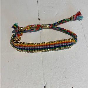 JCREW Rainbow Bracelet with Gold